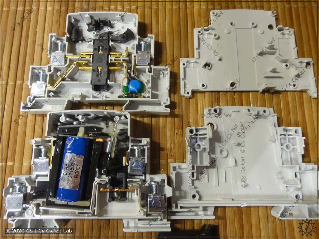 Внутреннее устройство модуля центрального управления ABB E293/X и импульсного реле E290