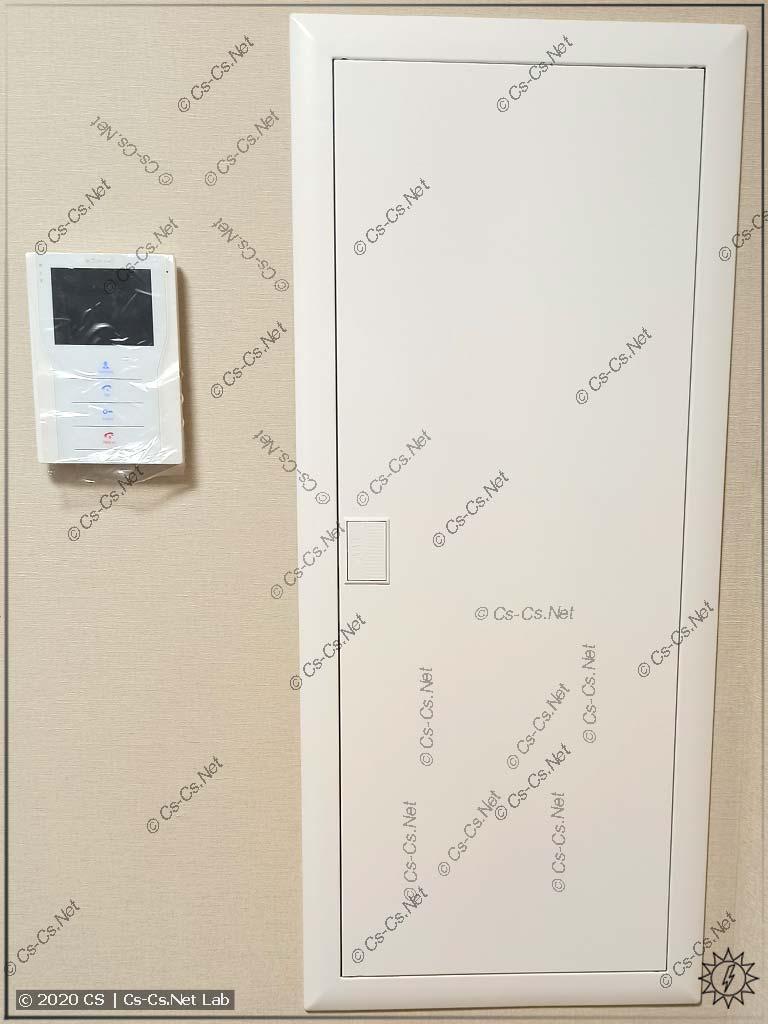 Монтаж щита UK600 от Кирича Funt: щит закрыт