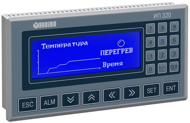 Панель оператора ОВЕН ИП320 (простая, монохромная)
