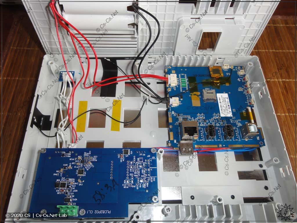 Внутреннее устройство панели ОВЕН ВП110