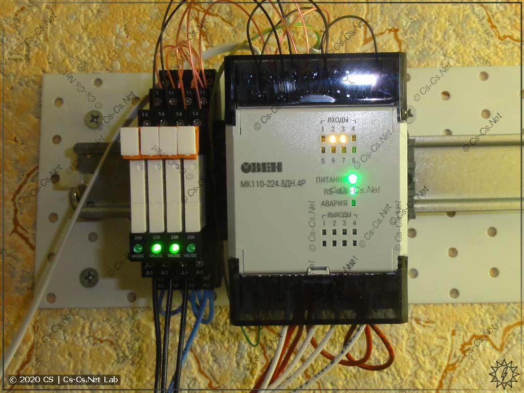 Модуль дискретного ввода-вывода для управления кнопками и развязки сигналов от ламп подсветок (статус работы автоматики)