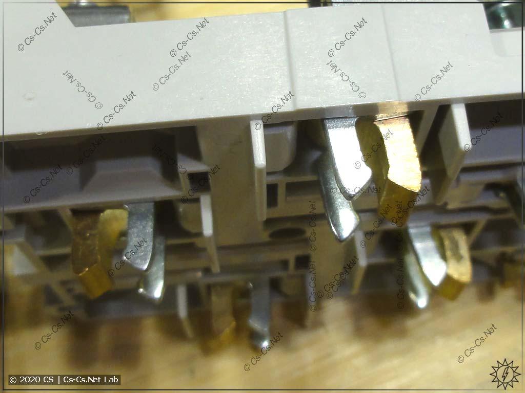 Силовые контакты клеммного блока ZLS924