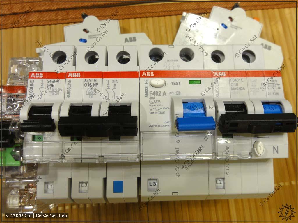 Модульное оборудование для системы SMISSLINE: автоматы, УЗО, дифавтоматы