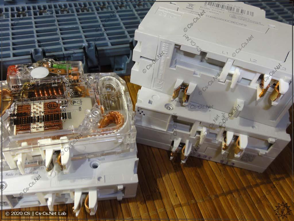 Устройство и внешний вид контактов модульного оборудования SMISSLINE