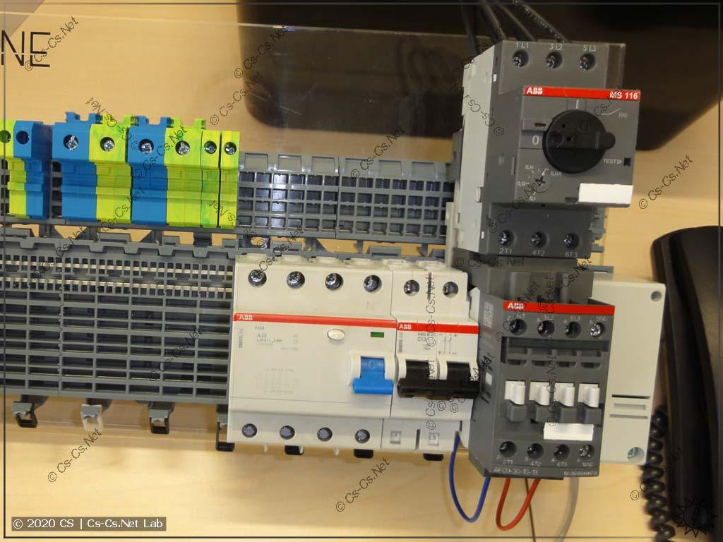 Пример адаптера для штатной установки контактора и мотор-автомата на шину SMISSLINE