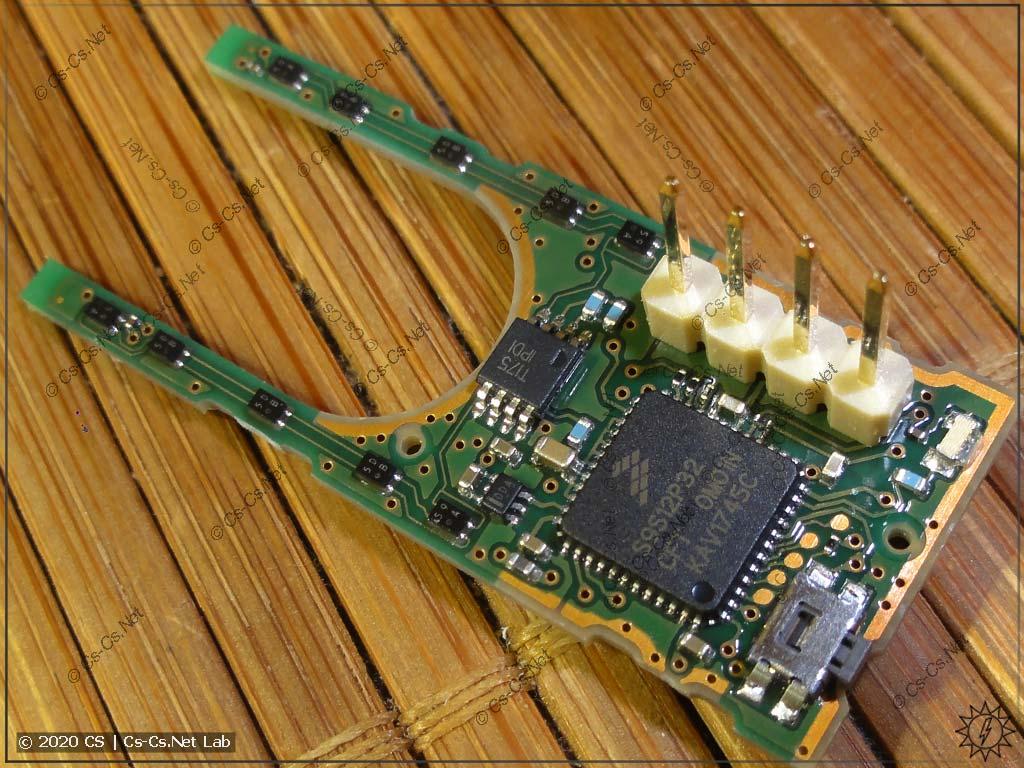 Внутреннее устройство датчика тока ABB CMS: плата с процессором и датчиками магнитного поля