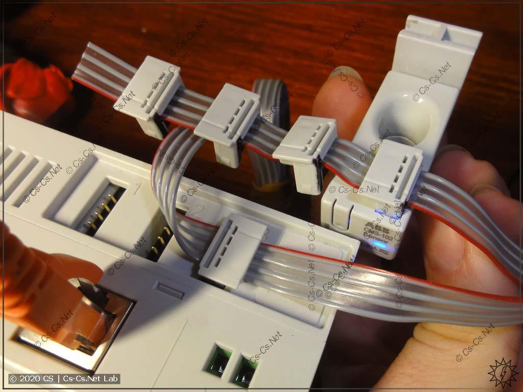 Правильное подключение шлейфа датчиков тока системы ABB CMS (красный указывает на первый контакт)