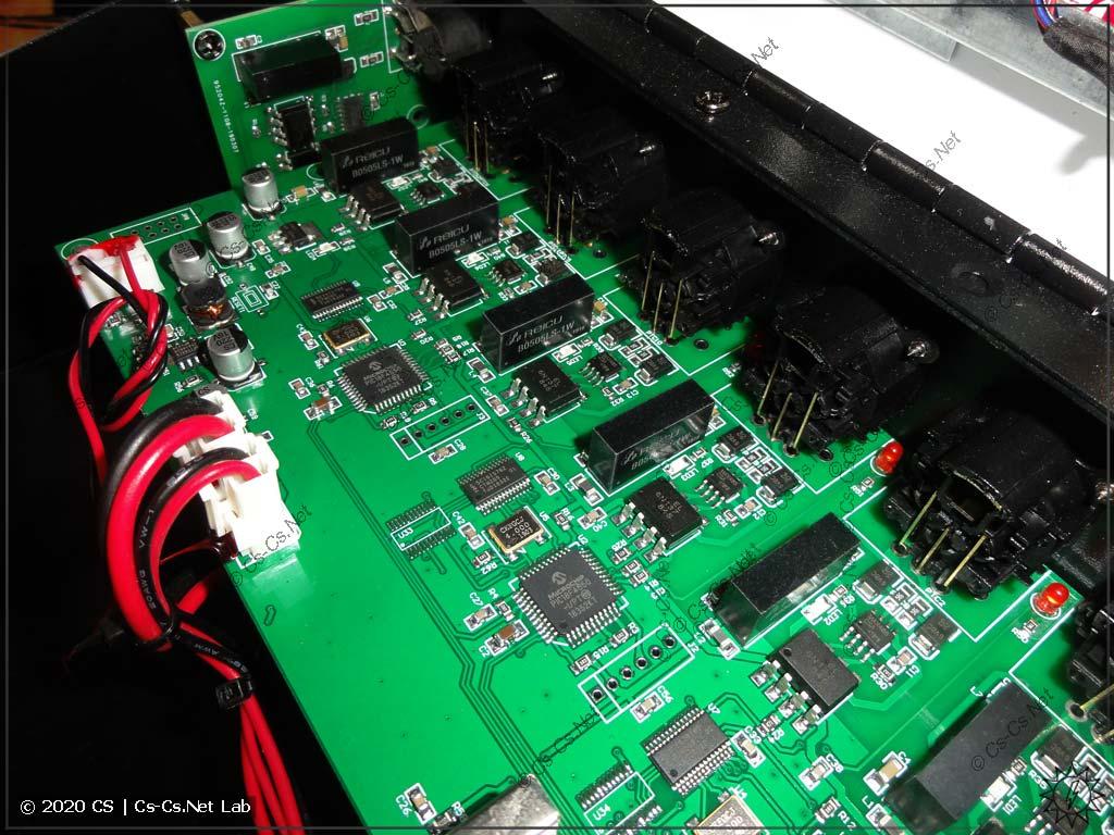 Плата внешних интерфейсов DMX пульта Tiger Touch II
