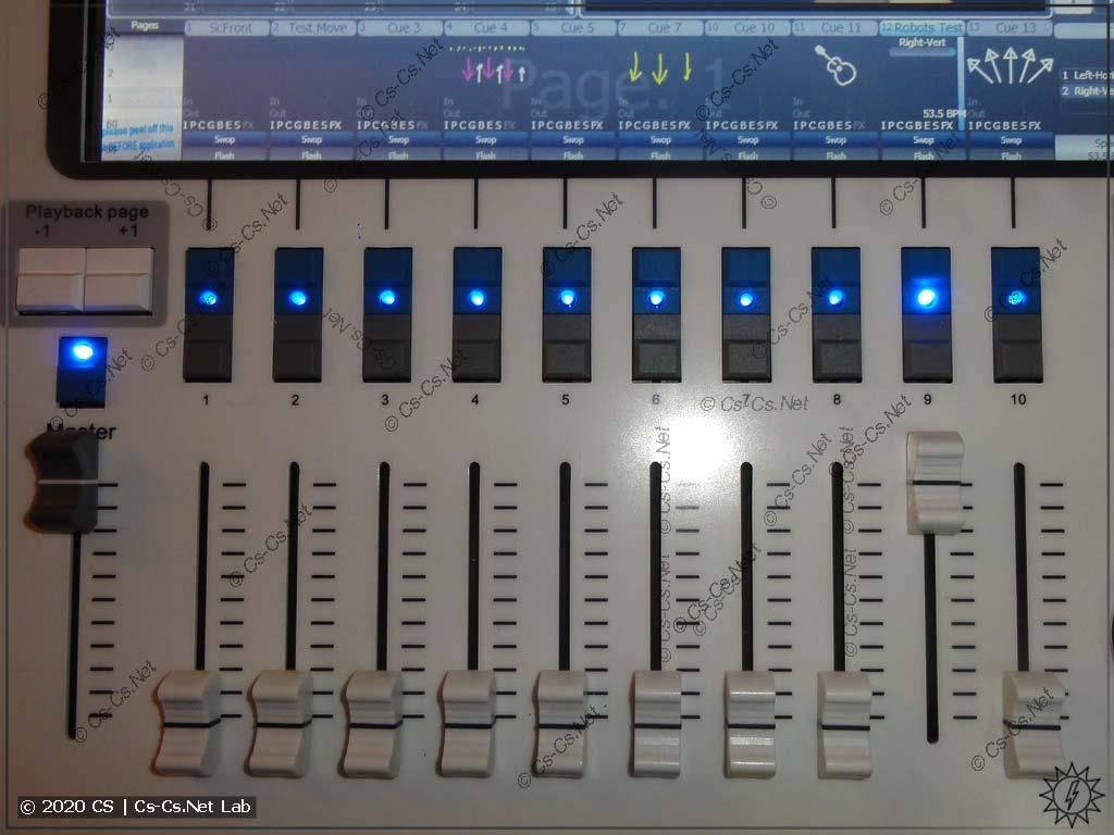 Интерфейс Tiger Touch II: Плэйбэки с кнопками функций Flash/Swop/Go