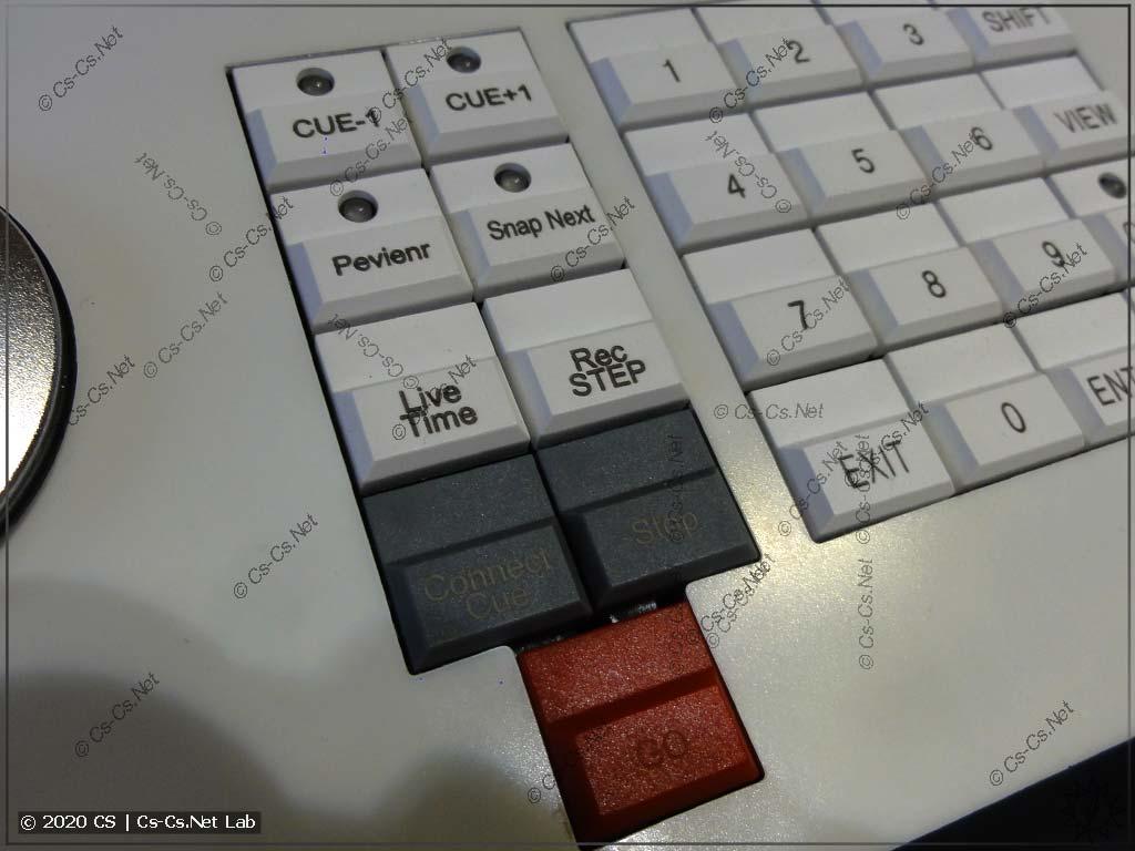 Интерфейс Tiger Touch II: Кнопки управления чейзами и кьюлистами (и кнопка Go)