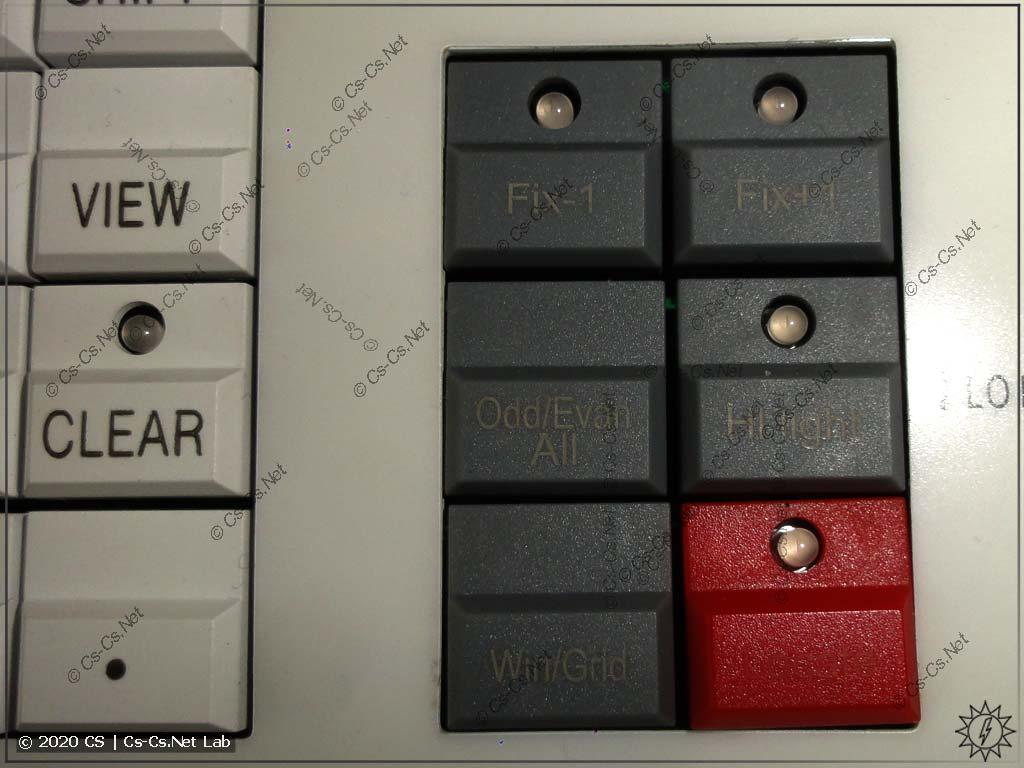 Интерфейс Tiger Touch II: Кнопки управления выбранными приборами (и кнопка Locate)