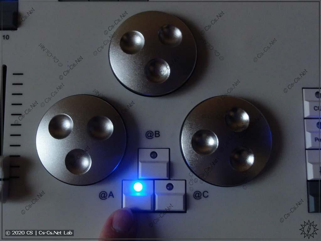 Задание значения атрибутов в Tiger Touch II: Нажимаем кнопку @A около крутилки...
