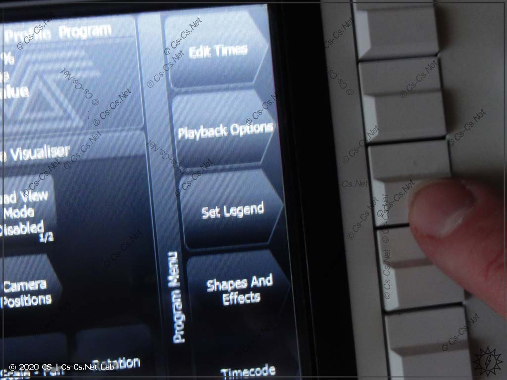 Установка легенды Playback в Tiger Touch II: Жмём кнопку 'Set Legend'