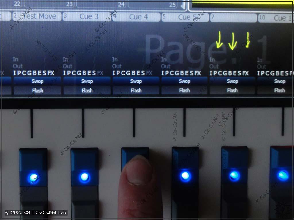 Установка легенды Playback в Tiger Touch II: Жмём кнопку выбора Playback для подписывания
