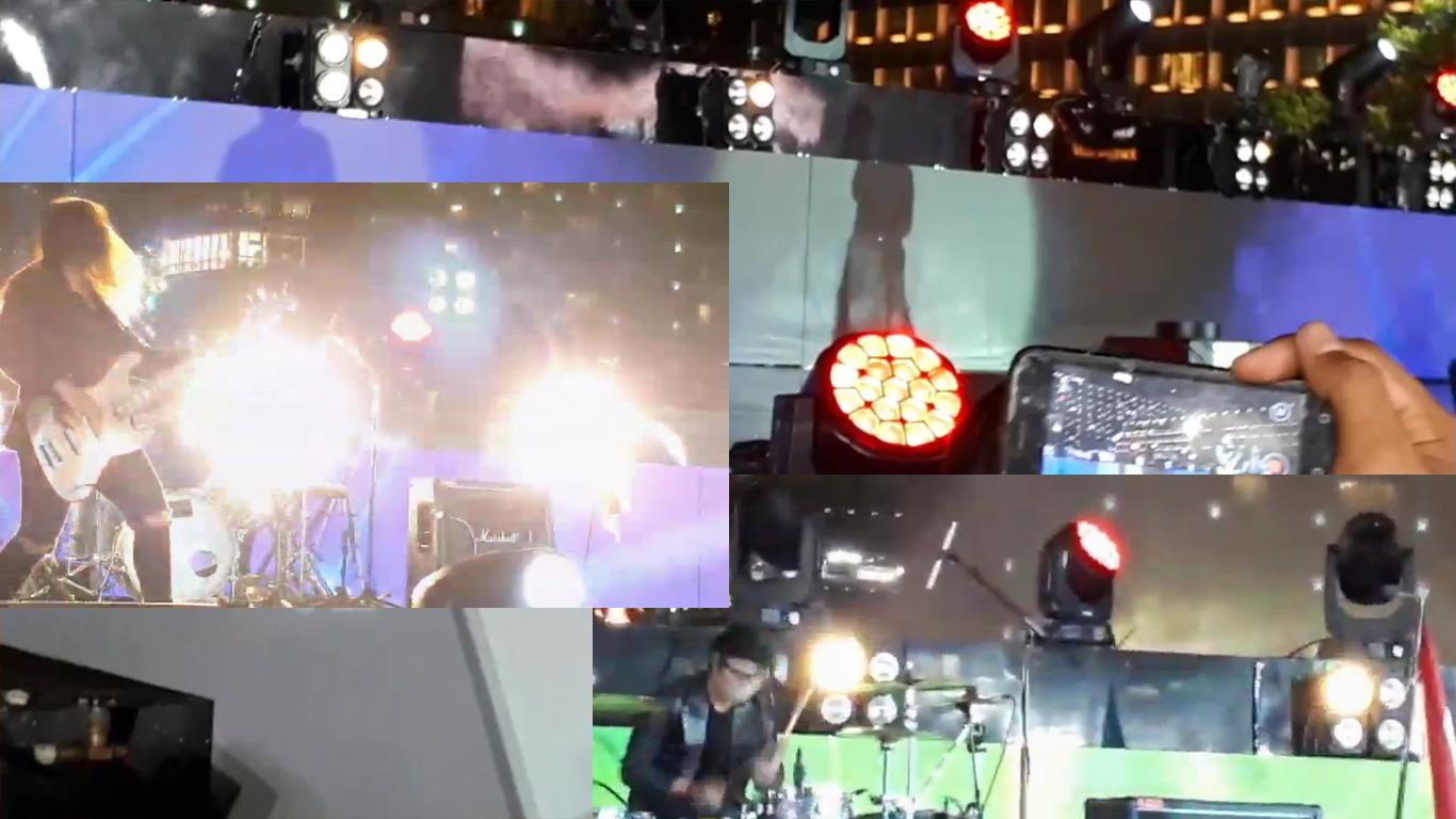 Пример использования блиндеров в концерте группы Kotak (трэк Beraksi)