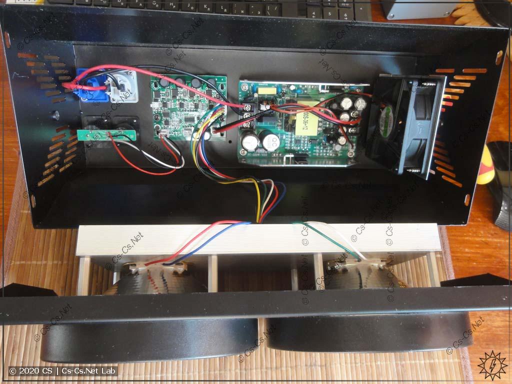 Внутренняя начинка сценического блиндера COB LED 2x100W