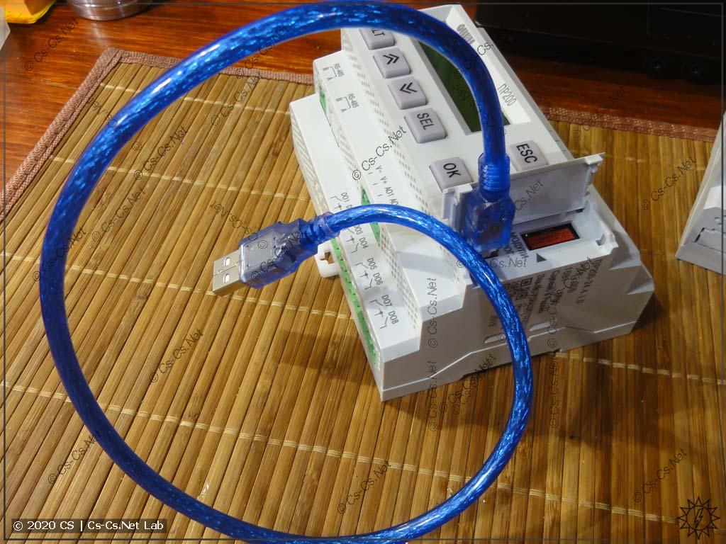 USB-кабель (из комплекта) для того, чтобы программировать реле ПР