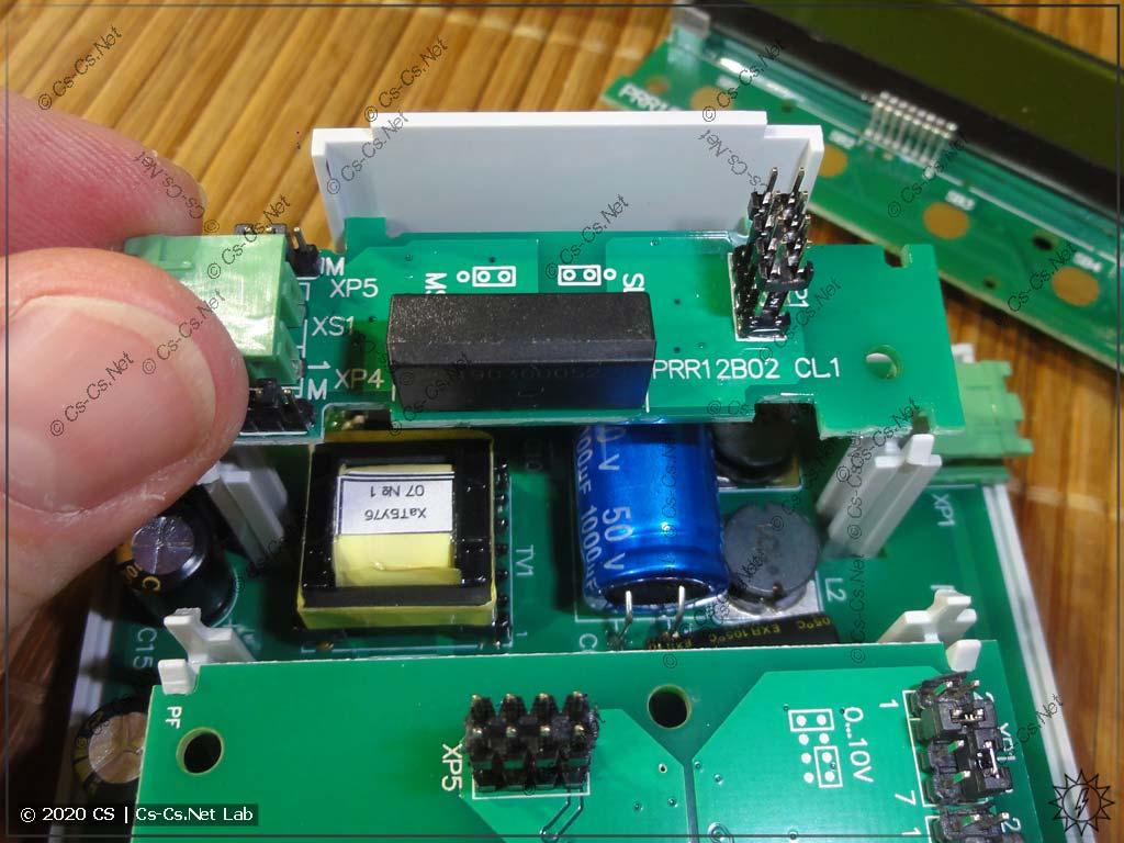 Один из двух интерфейсных модулей для RS-485 (вставляется в слот)