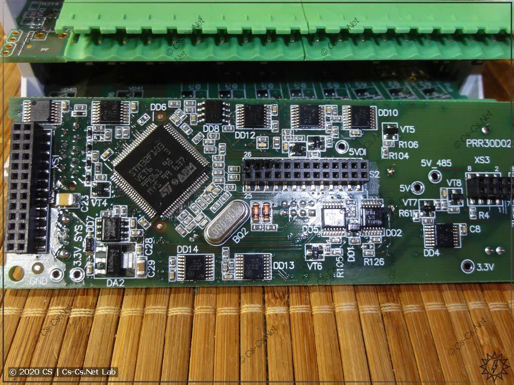 Процессорная плата ПР102 (вид сзади на процессор)