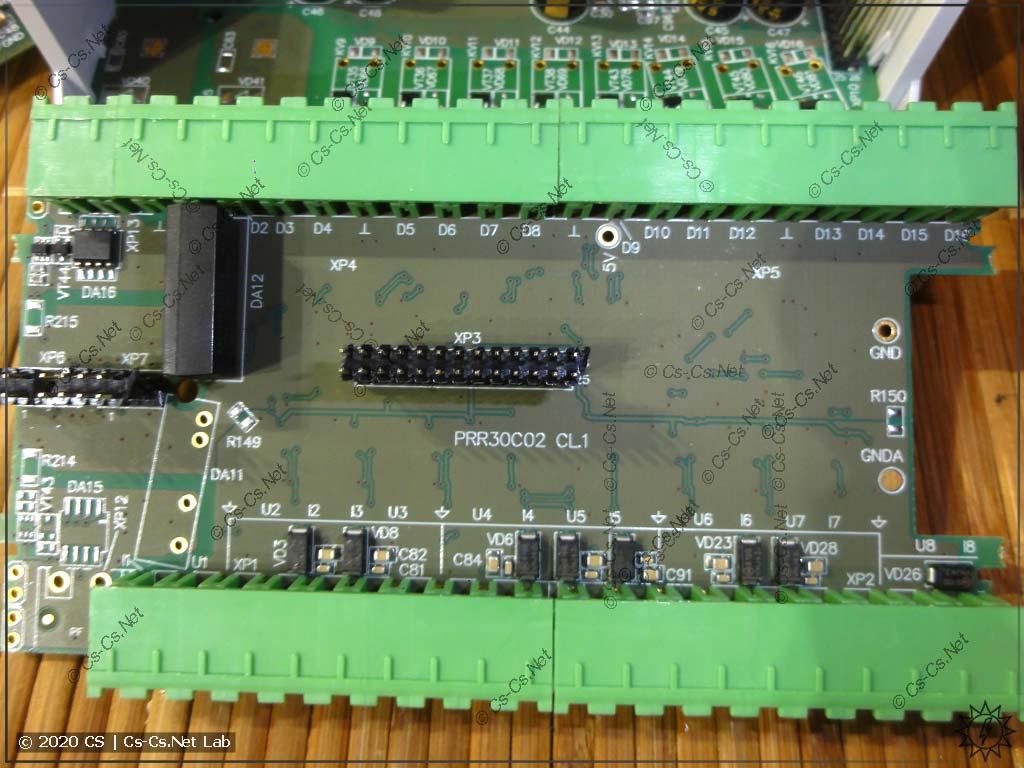 Плата ОВЕН ПР102 со входами (цифровые и аналоговые)