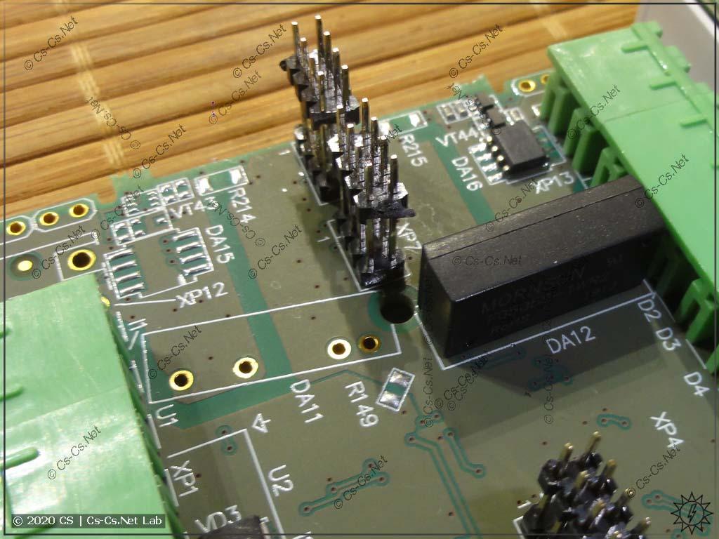 Интерфейс RS-485 на плате и пустое место под второй интерфейс