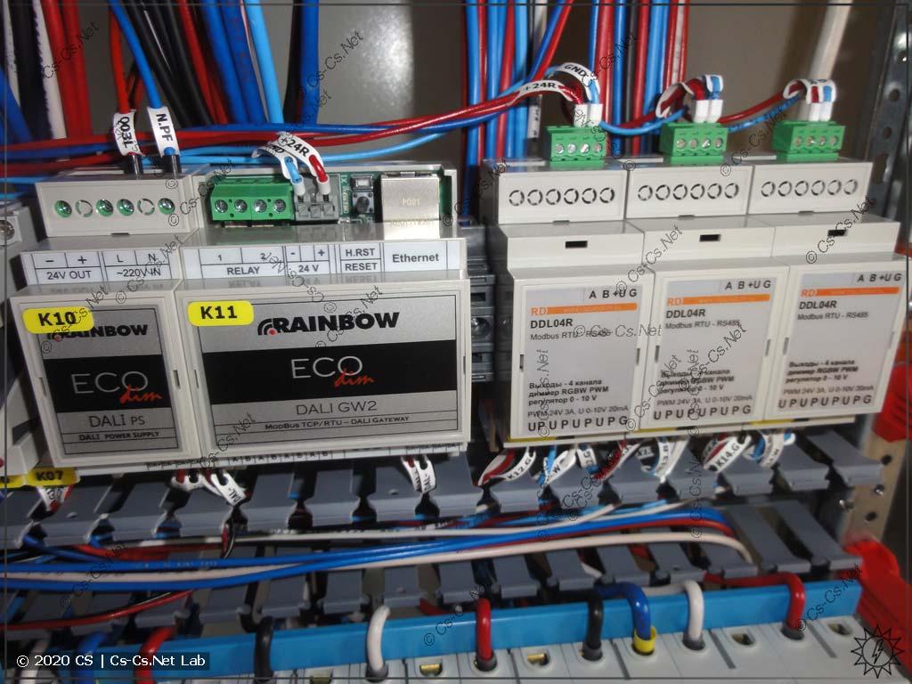 Шлюзы DALI в ModBus и диммер RGBW DDL04 для светодиодов в щите (буду изучать и тестить)