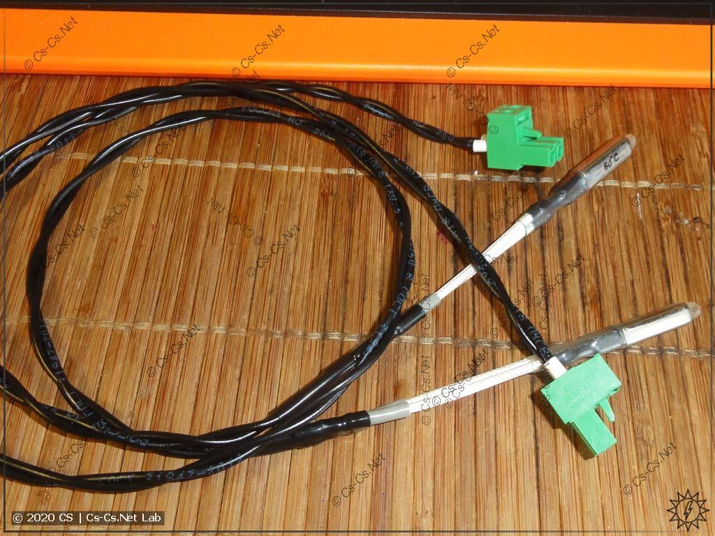 Смонтированные шлейфы термостатов для защиты щита