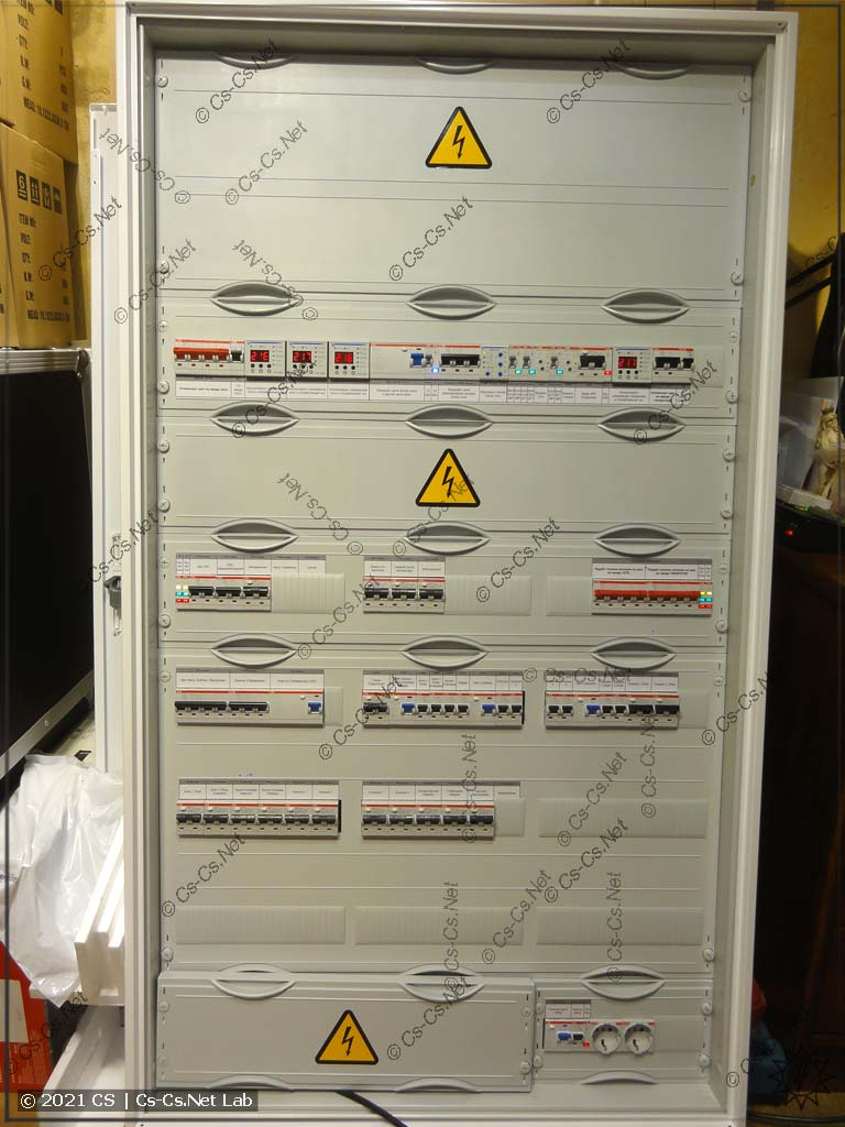 Щит в Домодедово с простым АВР на контакторах ABB AF без автоматики