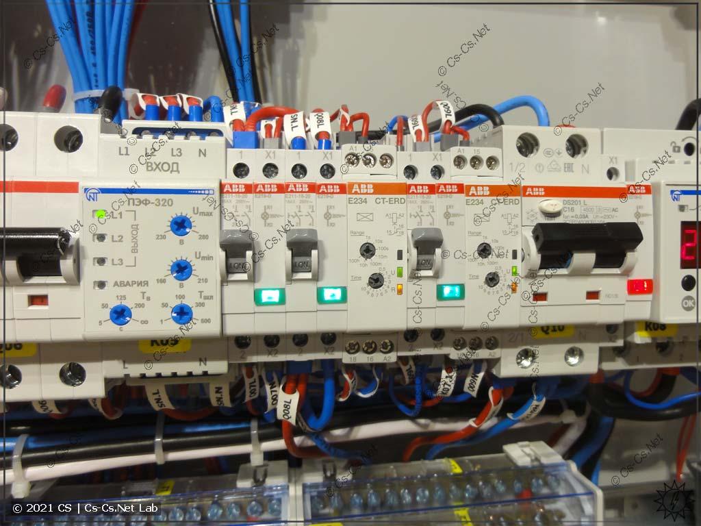 Часть модульки для управления простым АВР на контакторах (сигналы Sense, задержки срабатываний)