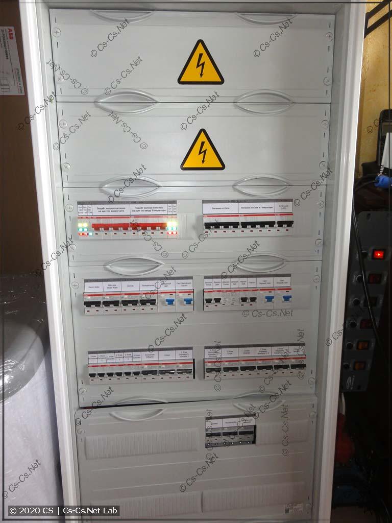 Нижняя часть шкафа в Поповку (отходящие линии)