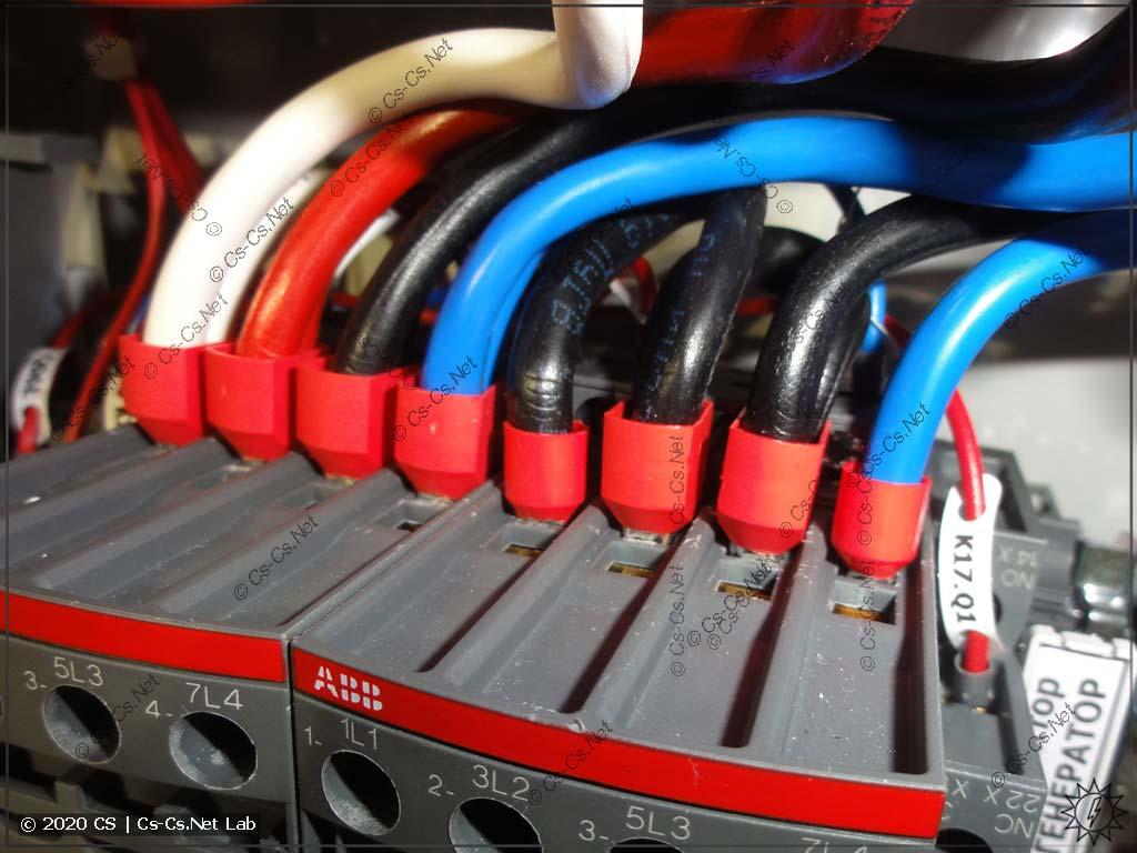 В контакторы ABB AF38 входят наконечники НШВИ(2) на 10 кв.мм, если аккуратно их монтировать