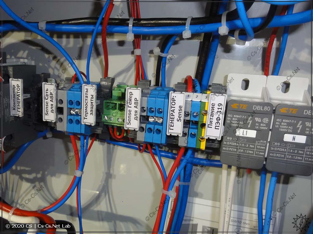Служебные сигналы автоматики АВР, часть из которых будет использовать заказчик в своих проектах