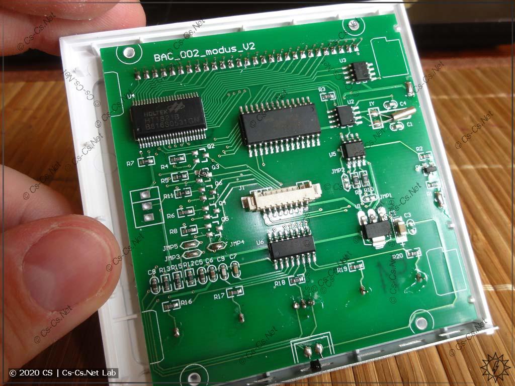 Управляющая плата термостата, совмещённая с LCD-экраном