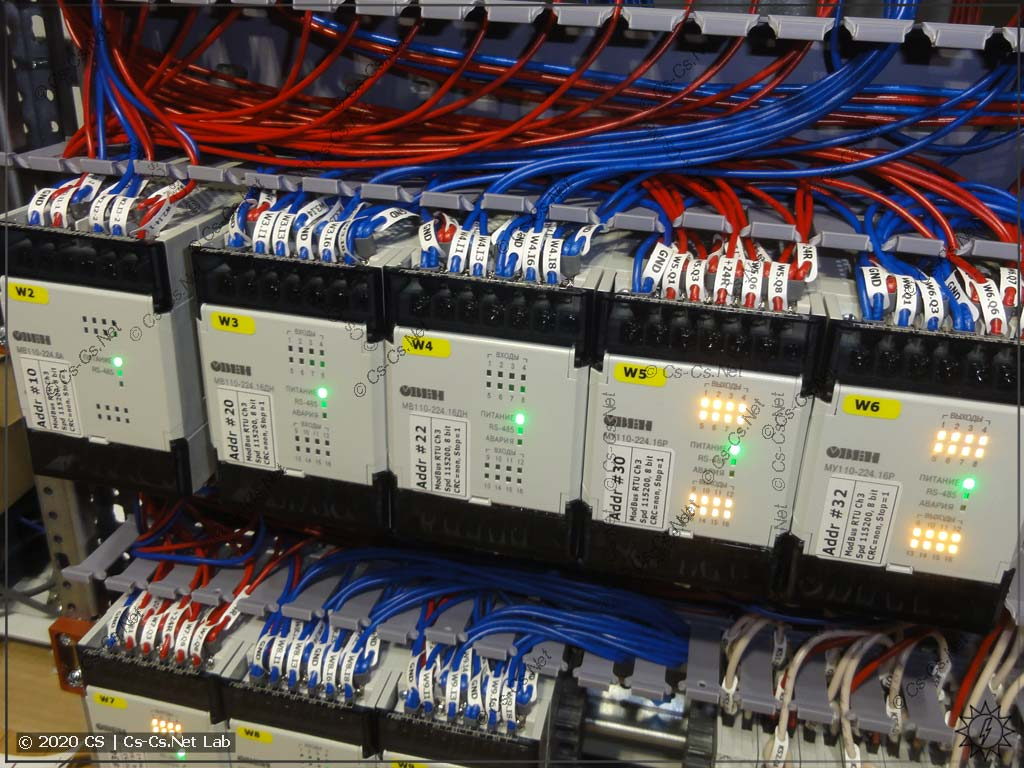 Модули линейки ОВЕН Мх110 имеют очень высокую плотность монтажа