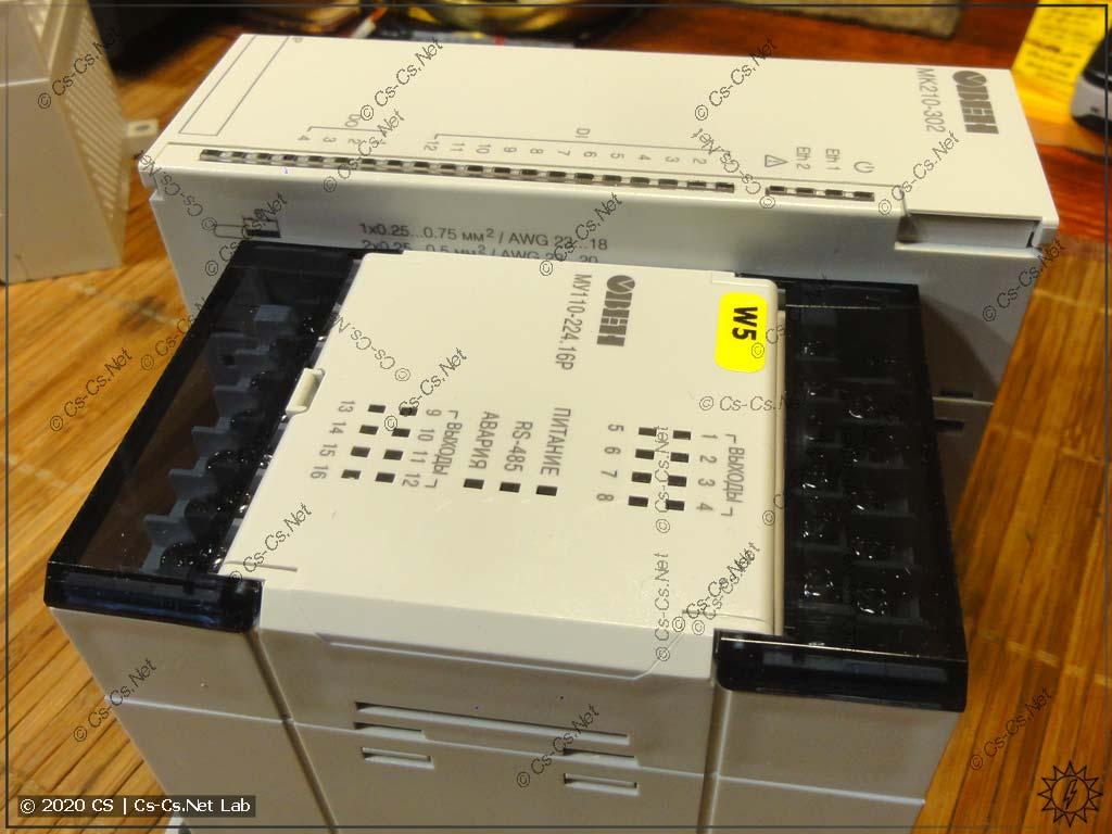 Габаритные размеры модулей Мх210 очень большие, больше чем у модулей Мх110