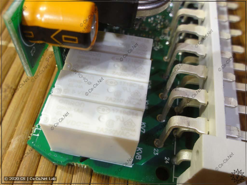 Выходные реле модуля МК210-302