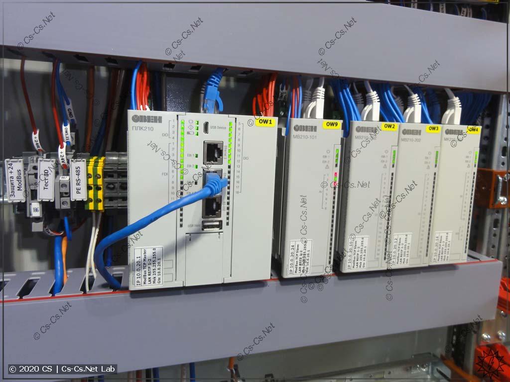 Мой монтаж модулей ОВЕН Мх210 в шкафу ABB TwinLine 412G (225 мм глубиной)