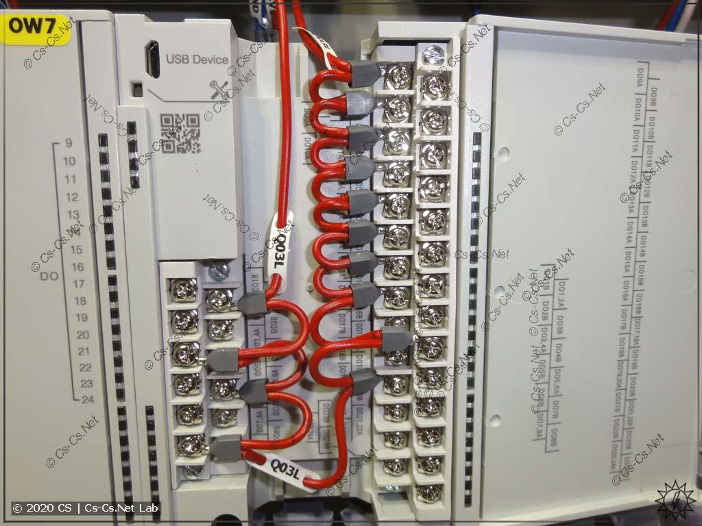 Более-менее просторный монтаж в модулях ОВЕН МУ210-402/403: тут есть больше места для проводов