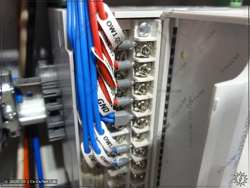 Неудобства монтажа модулей ОВЕН Мх210/ПЛК210: провода в канале модуля лежат плотно, закрывая обозначения IO и даже свою маркировку