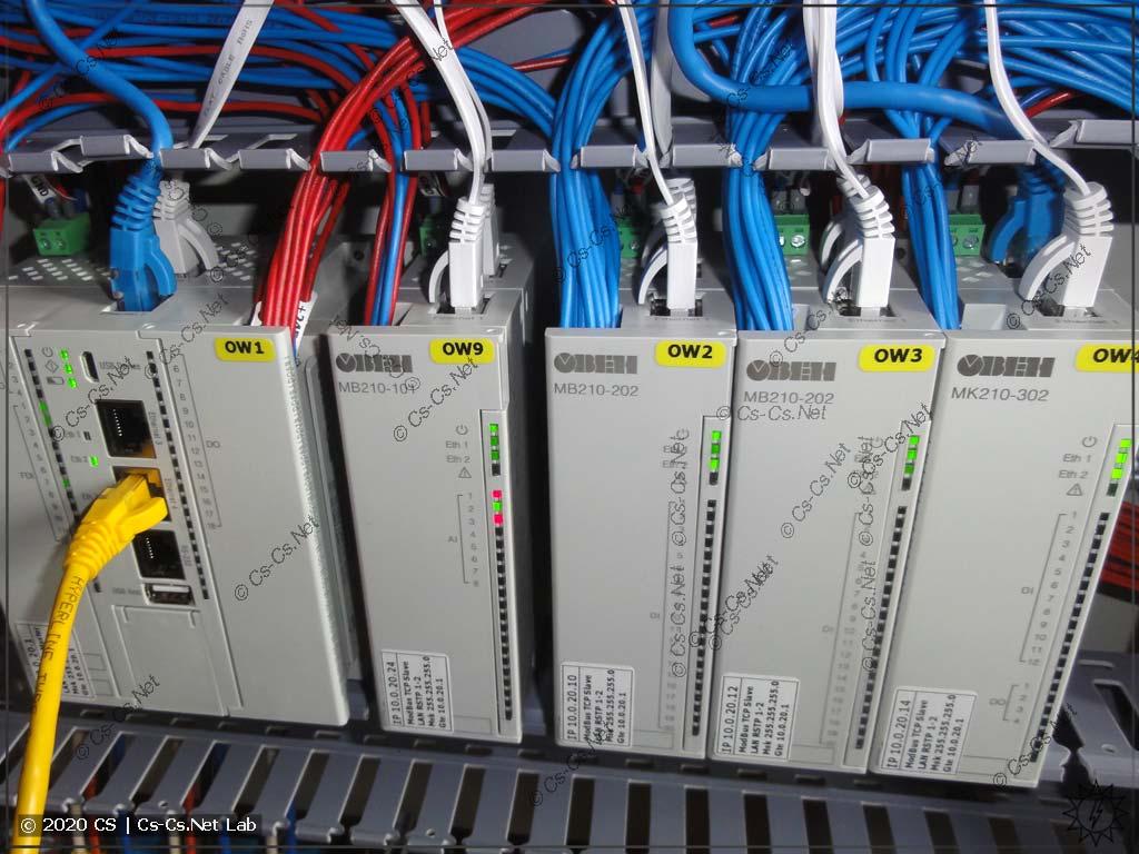 Процесс сборки щита на модулях ОВЕН Мх210: разводка Ethernet добавляет сложностей, места мало