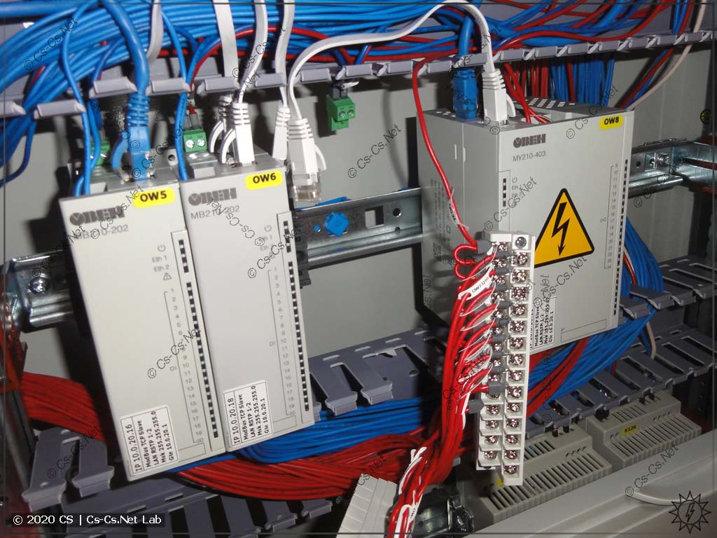 Процесс сборки щита на модулях ОВЕН Мх210: пришлось вытянуть все провода, чтобы снять модуль