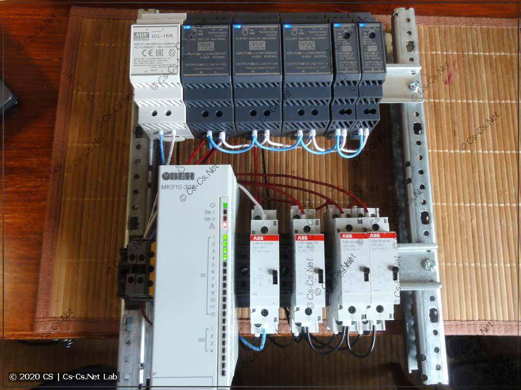 Мой тестовый стенд для теста зависания модуля МК210-302 (какой был под рукой)