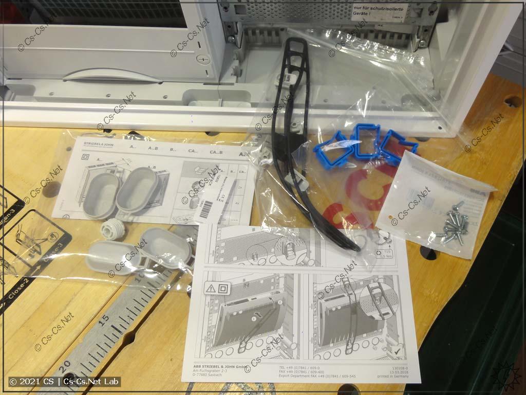 Комплект шкафов ComfortLine с панелью для СКС: инструкция, держалки проводов, держалки для роутера, винты крепления
