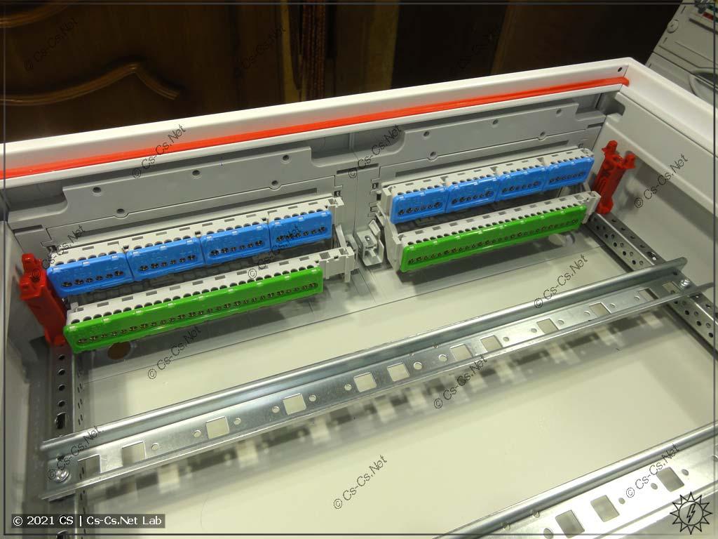 Стандартные наборы винтовых шинок для щитов ComfortLine CA без панели для СКС (на держателях ZK19)