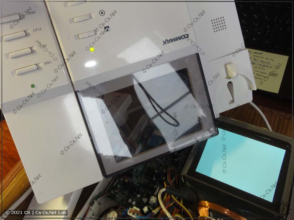 Первые тесты домофона Commax DPV с новым блоком питания: работает