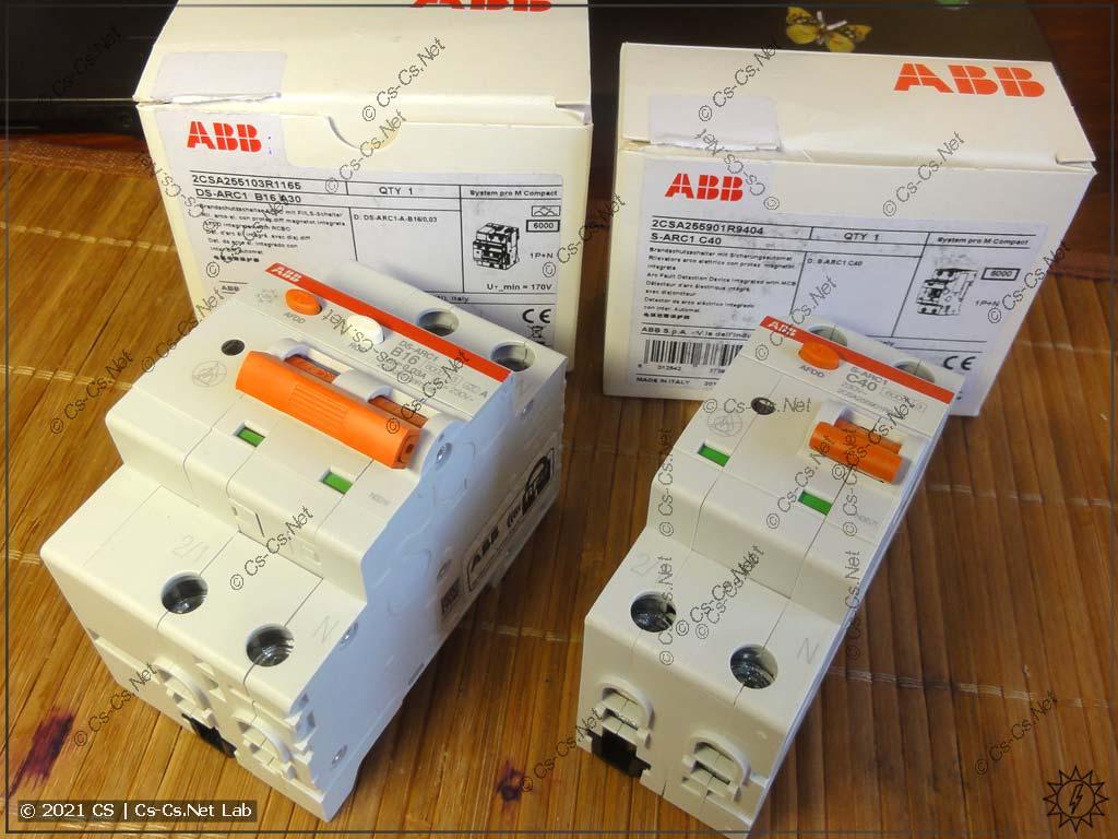 Устройства защиты от дуги (AFDD) ABB S-ARC (с автоматом) и DS-ARC (с дифавтоматом)