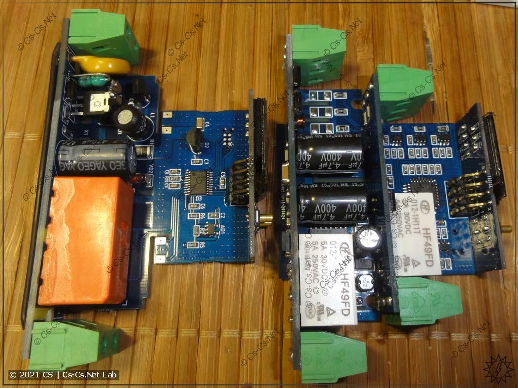 Одномодульные реле напряжения от DomaLogica с OLED-экраном (вид на компоненты)