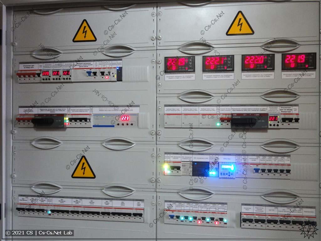 Двойной щит для коттеджа в Папушево: Силовая часть с IPM и важными нагрузками