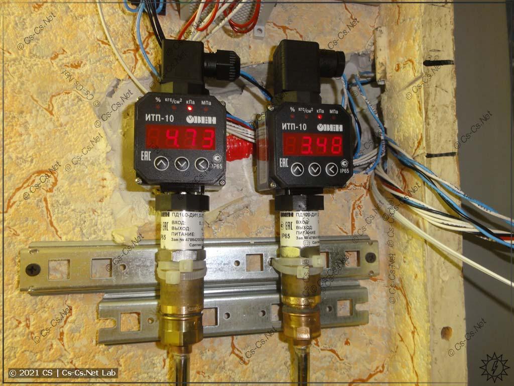 Датчики давления ОВЕН ПД100 и индикаторы ОВЕН ИТП-10 в работе на моём санузле