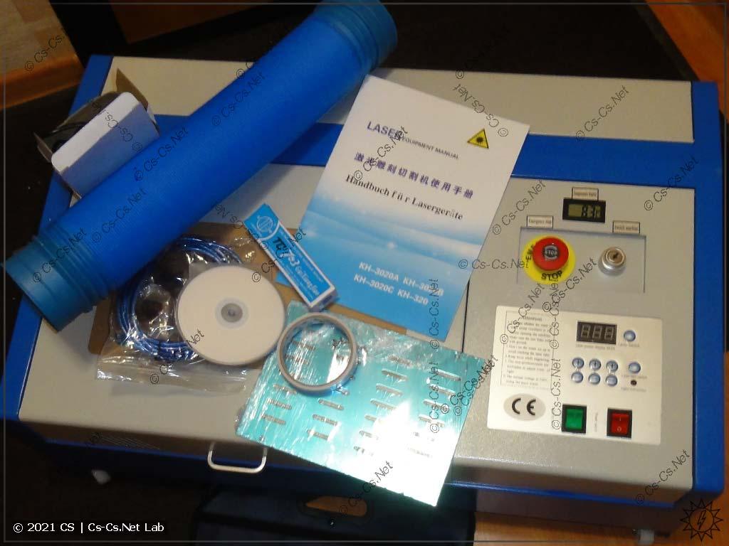 Станок лазерной резки на базе CO2 лазера (фанера, пластик, кожа)